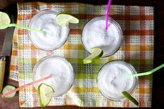 Limonada de Coco (Columbian Frozen Coconut Limeade) (Note: Can be made adult with the inclusion of white rum)