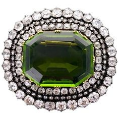 Late 19th Century Antique Peridot Diamond Silver Gold Brooch (€55.906) ❤ liked on Polyvore featuring jewelry, brooches, gold jewelry, antique silver brooches, gold jewellery, silver brooch and diamond brooch