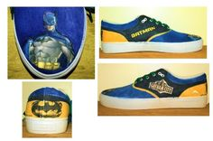 3rd pair of custom shoes for my step-brother featuring Batman. Not very well done I'll admit though ):  Follow me on Tumblr- http://lucifers-temptation.tumblr.com/