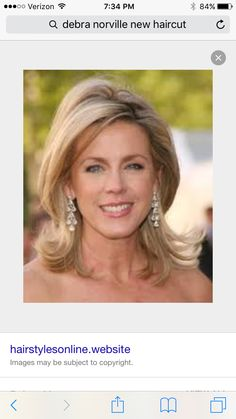 Debra Norville wearing a modern flip Classy Hairstyles, Bride Hairstyles, Pretty Hairstyles, Mid Length Hair, Shoulder Length Hair, Deborah Norville Hair, Medium Hair Styles, Short Hair Styles, Mother Of The Bride Hair