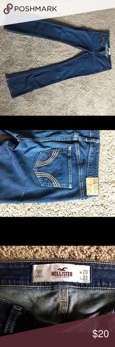 Like new Hollister jeans size 9! 3 pairs of Hollister jeans in like new condition. Nearly identical. Only worn 2-3 times each. A little too tight on me now! Hollister Jeans Boot Cut