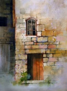 texture techniques by John Lovett, using a combination of watercolor, ink, pastel and gouache to build up convincing, visual texture in a watercolor painting. Watercolor Tips, Watercolour Tutorials, Watercolor Techniques, Watercolor Landscape, Painting Techniques, Watercolor Paintings, Watercolors, Watercolor Lesson, Watercolor Texture