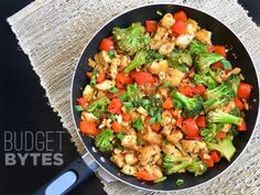 Kung Pao Chicken (and vegetables) - Budget Bytes