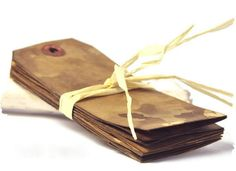 Walnut stained Primitive gift tags. Large wedding by TodoPapel