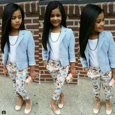 Fashion kids cute outfit new Ideas Little Girl Outfits, Cute Outfits For Kids, Little Girl Fashion, Cute Little Girls, Toddler Outfits, Fashion Kids, Toddler Fashion, Kids Mode, Kid Outfits