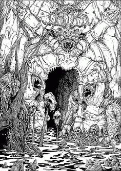 A D O G S B L O G G: Russ Nicholson Fantasy Illustrator