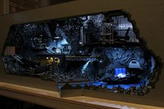This is one of the coolest things ever! The Bat Cave constructed from 20,000 pieces of LEGO