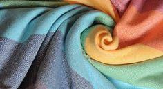 nosící šátek Girasol Light Rainbow Diamant, ručně tkaný - 1
