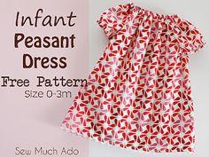 Infant peasant dress