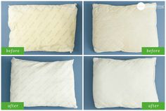 How To Rescue Your Old Yellowed Pillows