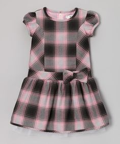 Take a look at this Pink & Black Plaid Ada Wool Dress - Infant, Toddler & Girls by Joe-Ella on #zulily today!