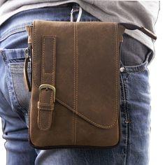 New Mens Vintage Genuine Leather Messenger Shoulder Fanny Hip Bum Waist Pack Bag | eBay