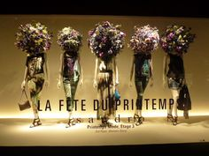 Printemps Flower Sculptures windows, Paris Sandro, Etage 3