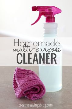 Make your own homemade multi-purpose cleaner for pennies compared to store-bought ones. This natural solution easily wipes away stains, and glides right across the stove tackling all those stubborn grease spots!