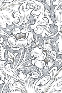 William Morris Colouring Pages 15 Pictura Posters William