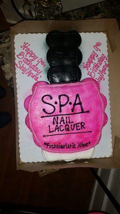 Nail polish cupcake cake