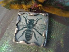 Back by popular demand:) QUEEN BEE Pendant  Soldered Art Glass by victoriacharlotte on Etsy, $8.00