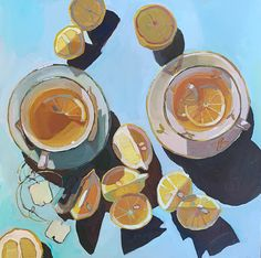 Tea by Erika Lee Sears Gouache, Painting Inspiration, Art Inspo, Graphisches Design, Pretty Art, Beautiful Paintings, Love Art, Art Images, Les Oeuvres