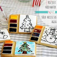 Paint your own cookie! Perfect christmas gift!  Via @mariel_mdt http://instagram.com/mariel_mdt
