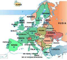 Mapas de Europa para imprimir | laclasedeptdemontse Maps, Italia, Social Science, Norway, Germany, Countries