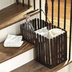 Good Household Essentials Paper Rope Stair Basket With Handle | Stair Basket,  Households And Paper