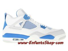 3c4ad9ded454 Air Jordan 4 Retro Chaussures Nike Prix Pas Cher Pour Homme Military Blue  308497-105