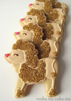 Sparkly Poodle Cookies from a Lion Cutter | Make Me Cake Me