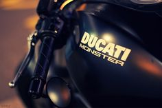 Matte black Ducati Monster