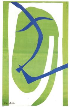 """artist-matisse: """"Japanese Mask by Henri Matisse """" Gouache and cut out paper, 1950 / Private Collection Post Impressionism, Abstract Art Painting, Abstract Artists, Pablo Picasso Paintings, Matisse Paintings, Japanese Mask, Abstract Art, Matisse Cutouts, Abstract"""