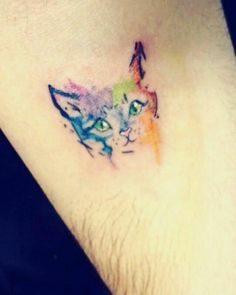 #tattoo #gatos #catlover #acuarela