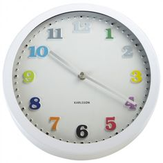 Rainbow Clock   Childrens Clocks for Boys and Girls Bedrooms   Decorative Accessories for Childrens Bedrooms   ASPACE