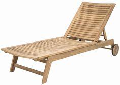 Leżak z drewna teakowego - Colombo, posiadający regulowane oparcie oraz funkcjonalne kółka. Dzięki nim sprawniej ustawisz leżak w swoim ogrodzie.  http://meblefann.pl/product-pol-126-Lezak-ogrodowy-COLOMBO.html