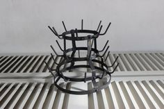 French Vintage Wine Bottle Drying Rack.  by LePasseRecompose