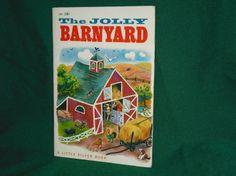 Children's Book 1950 The Jolly Barnyard A Little Silver Book