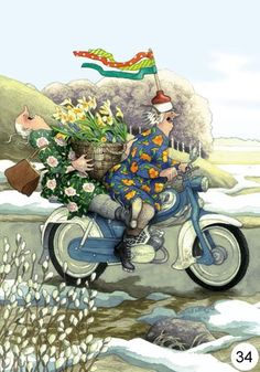 . . .And What's So Disgraceful About That? I Took The Entire Trellis Of Roses On The Harley Until I Was Copped By A Cop! ~ Inge Look