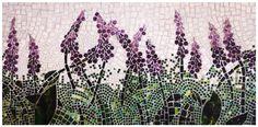 Mosaic of foxgloves