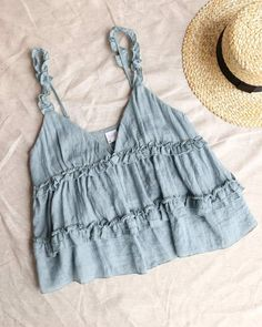 Mar 2020 - Frill of Life Flowy Frill Tank Top - More Colors – shophea. - Mar 2020 – Frill of Life Flowy Frill Tank Top – More Colors – shophearts Das schönst - Cute Summer Outfits, Cute Casual Outfits, Spring Outfits, Cute Summer Tops, Summer Tank Tops, Aesthetic Clothes, Ideias Fashion, Fashion Outfits, Diy Outfits