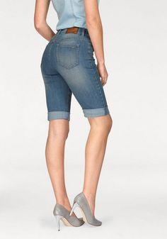 Arizona Jeansbermudas High Waist ab 34,99€. Stretch Jeansbermudas im 5-Pocket-Style, Saum individuell krempelbar, Bermudas mit hoher Leibhöhe bei OTTO Arizona, Mode Online, Jeans, Bermuda Shorts, Girls, High, Fashion, Bermudas, Woman Clothing