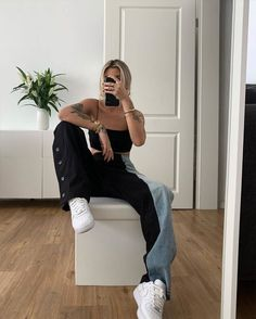 Behind The Scenes By lessisworefemales Tomboy Fashion, Streetwear Fashion, Girl Fashion, Fashion Outfits, Fashion Design, Sporty Outfits, Cute Casual Outfits, Aesthetic Clothes, Urban Aesthetic