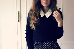 collard top + print skirt