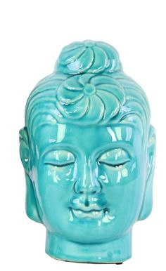 Ceramic Buddha Head Bust
