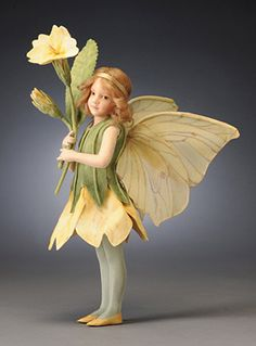 R John Wright Collectible Dolls Primrose Fairy The Flower Fairies Collection Costume Fleur, John Wright, Flower Costume, Baby Fairy Costume, Cicely Mary Barker, Fairy Figurines, Fairy Dress, Fairy Wings, Halloween Disfraces