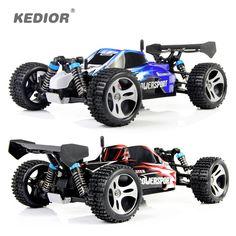 Spedizione gratuita Wltoys 2.4 GHz 4WD RC Racing Auto Telecomando Giocattolo elettrico viechle Macchina ad Alta velocità Con 45 KM/H Regalo per ragazzo