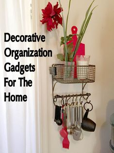 Cyndi Seidler decided to share some of her own decorative chachkies (trinkets) that provide organizing solutions in her own home. Organization Hacks, Organizing Solutions, New Gadgets, Office Gadgets, Kitchen Gadgets, Old Sewing Machines, Smart Kitchen, Gadget Gifts, Own Home