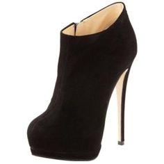 Giuseppe Zanotti Suede Hidden-Platform Bootie discovered on Fantasy Shopper £516.75 #fashion #style