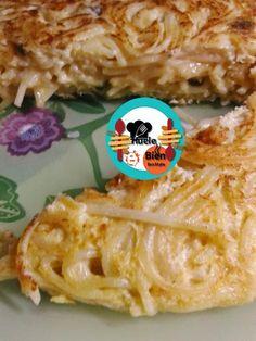 Tortilla de espaguetis ~ ¡Huele Bien!