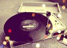 Spin - Vinyl Record Retro Vintage Music Photograph - ShutterInk via Etsy #fpoe