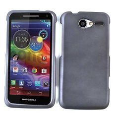 Unlimited Cellular Rubberized Snap-On Case for Motorola XT901 / Electrify M (Honey Metalic Gray, Leather Finish)