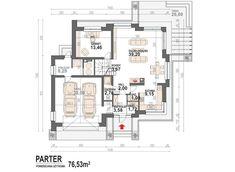 DOM.PL™ - Projekt domu DM Opałek X 2G CE - DOM GM3-32 - gotowy koszt budowy Sims House Design, Hollywood Homes, Clean House, Floor Plans, Minecraft Pe, Opal, Flat Roof, House, Floor Layout