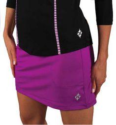 28fd9caf1137 CLEARANCE JoFit Women s Plus Size Mina Golf Pull On Skorts - Maui (Dizzy  Purple)